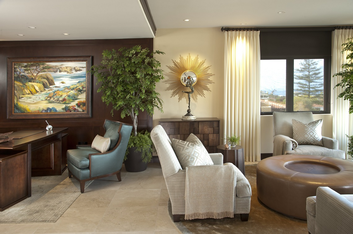 La jolla luxury home living room robeson design san How to decorate a house with two living rooms