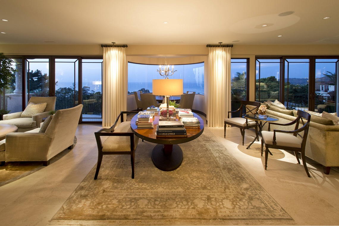 La Jolla Luxury Family Room Before And After Robeson Design San Diego Interior Designers