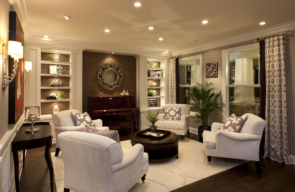 Stylish Transitional Living Room 2