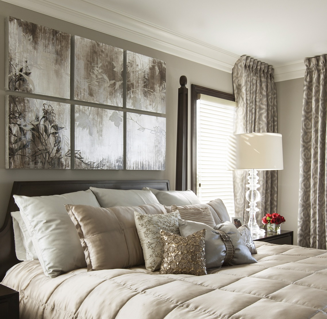 Hamptons Inspired Luxury Home Master Bedroom Robeson ...