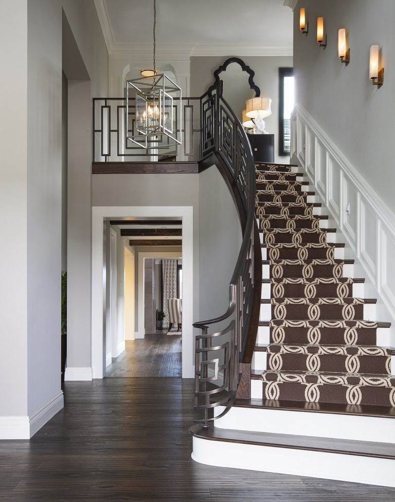 Hamptons Inspired Luxury Home Entry Robeson Design San Diego Interior Designers