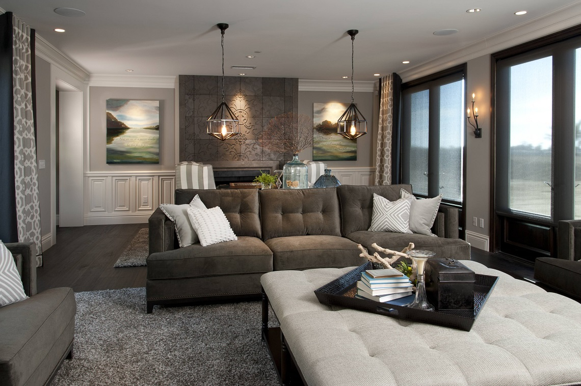 Hamptons inspired luxury home family room robeson design for Family in a living room