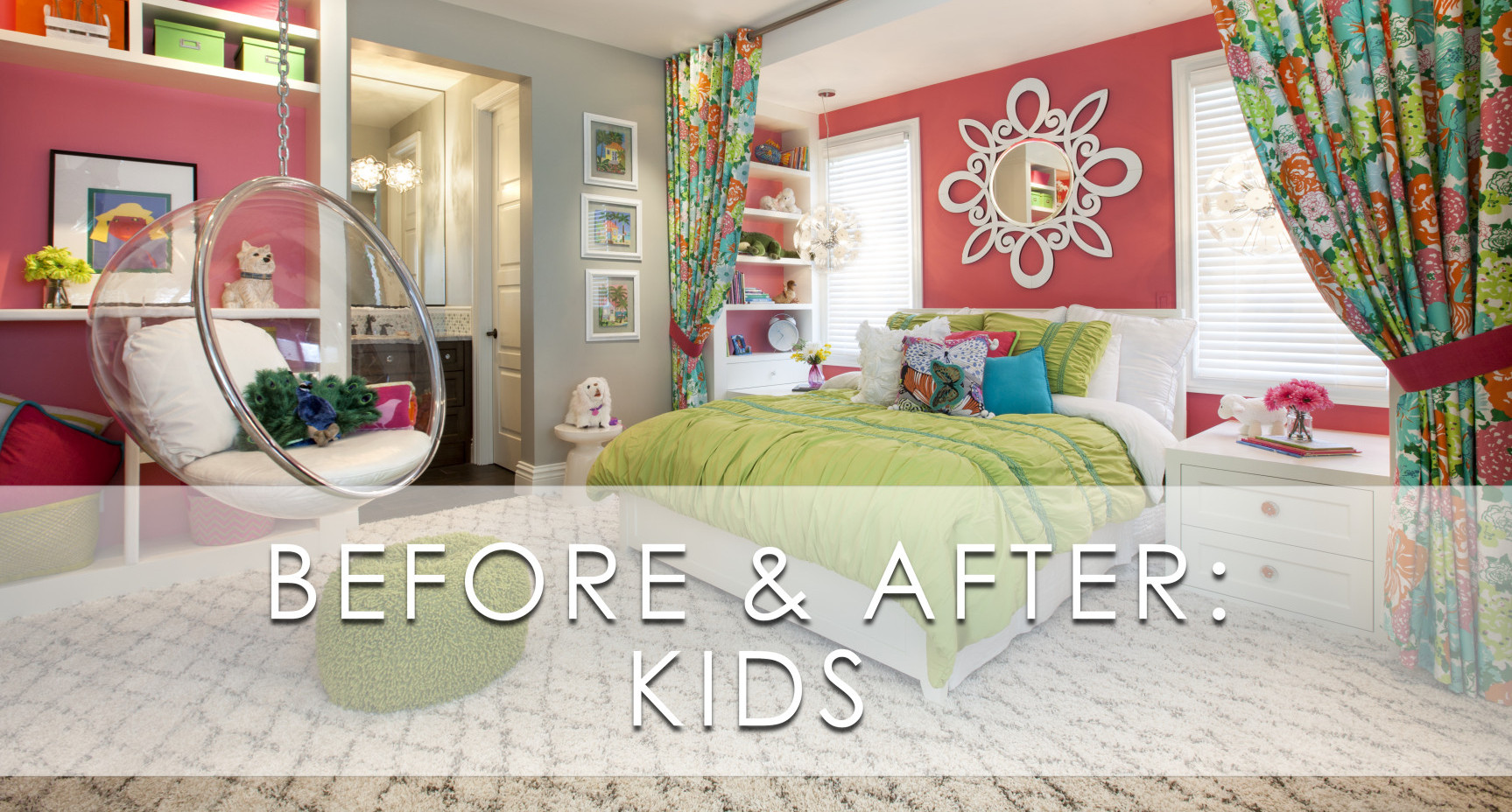 Hamptons Inspired Luxury Kids Girls Bedroom Before and After San